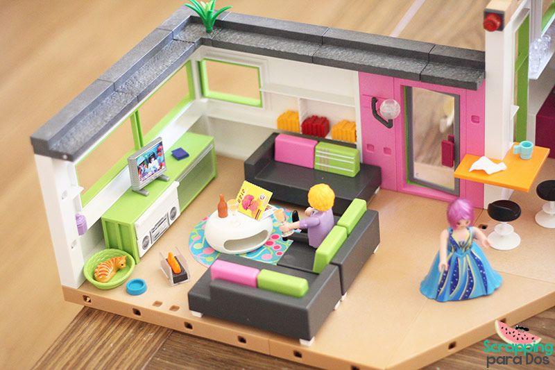 Mansi n moderna de lujo playmobil figuras pinterest for Playmobil casa de lujo