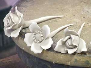 Pottery flowers