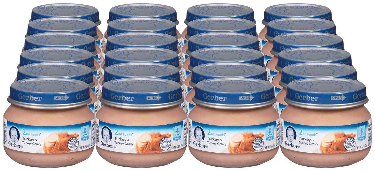 Gerber 2nd foods meatsturkey gravy25 oz24 pack 24