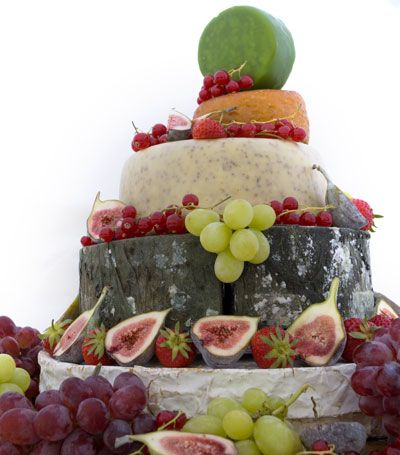 In my protest of actual cake, This will be served at our wedding! A cake of cheese!!