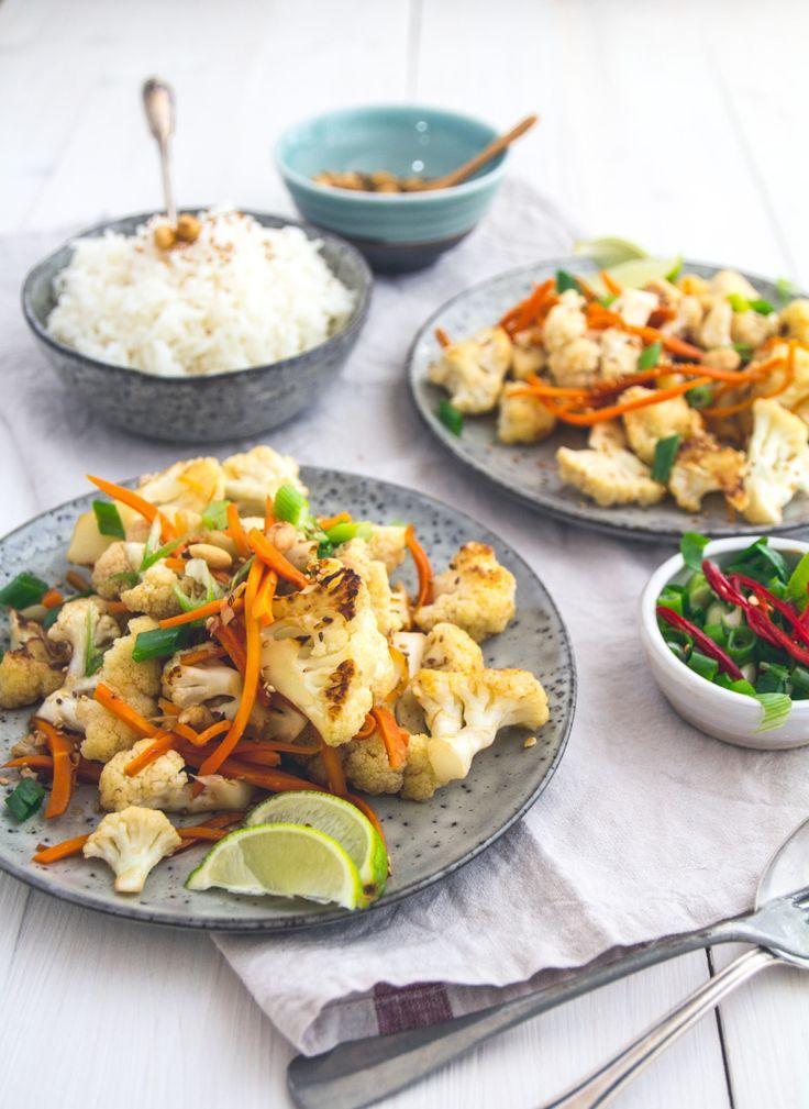 Asiatischer Blumenkohl-Salat · Eat this! Foodblog • Vegane Rezepte • Stories