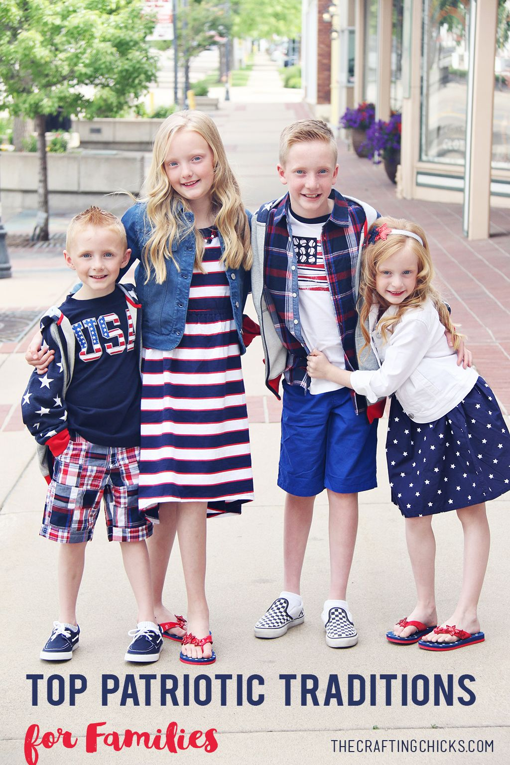 Sharing our Top Patriotic Traditions for Families. Fun ideas for those family activities from memorial day to labor day. Patriotic ideas to inspire you!