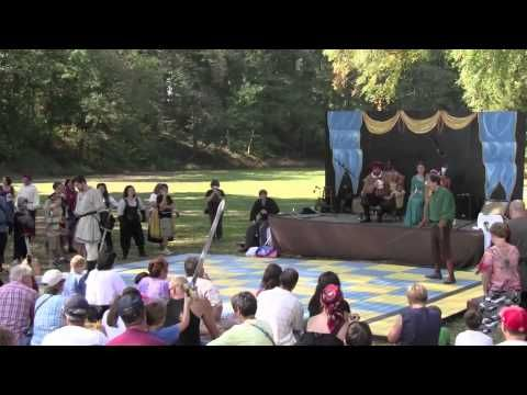 The final battle of our human chess match in 2010.  Robin Hood versus the evil Sheriff of Nottingham.  Visit us at www.njrenfaire.com.