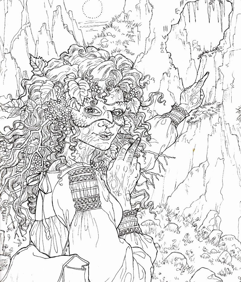 A court of thorns and roses coloring book awesome image