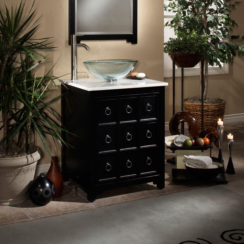 "24""+Apothecary+Vessel+Sink+Vanity Small bathroom vanities"