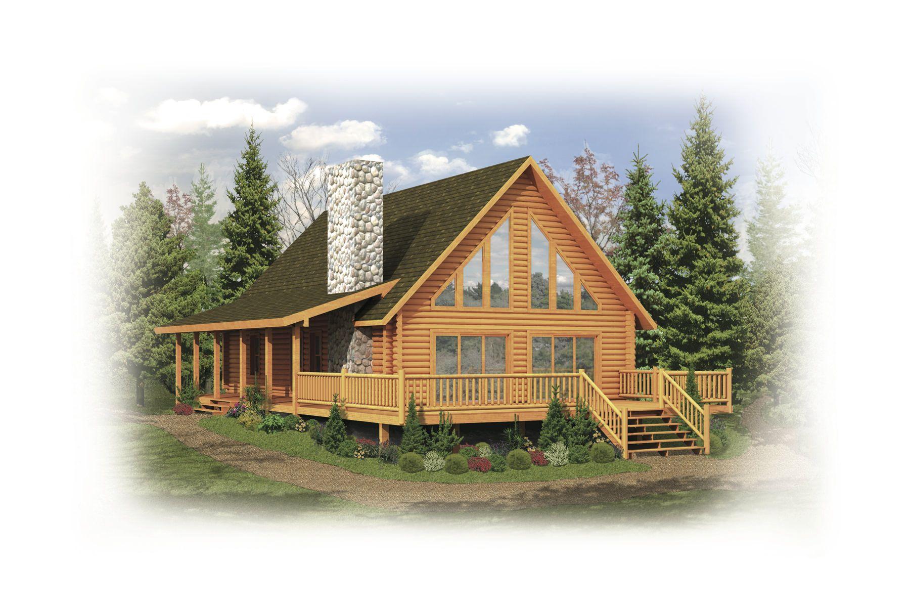 Tomahawk Floor Plan | Strongwood Log Home Company | 3 bed 2 bath | 1939 Sq  Ft | Cottage house plans, Log home plan, Log homes