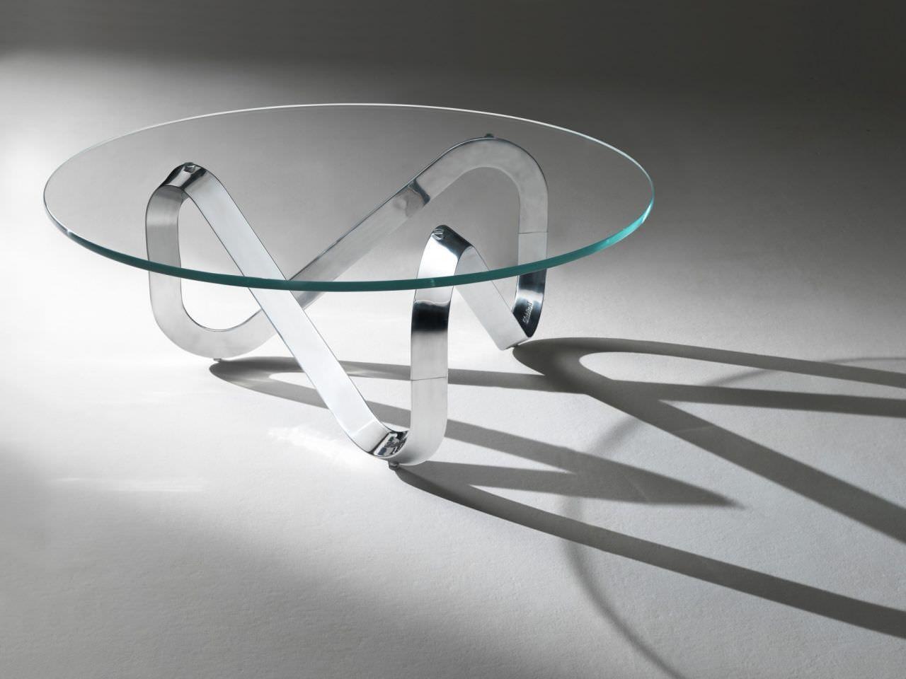 impressionnant table basse verre et métal | décoration française