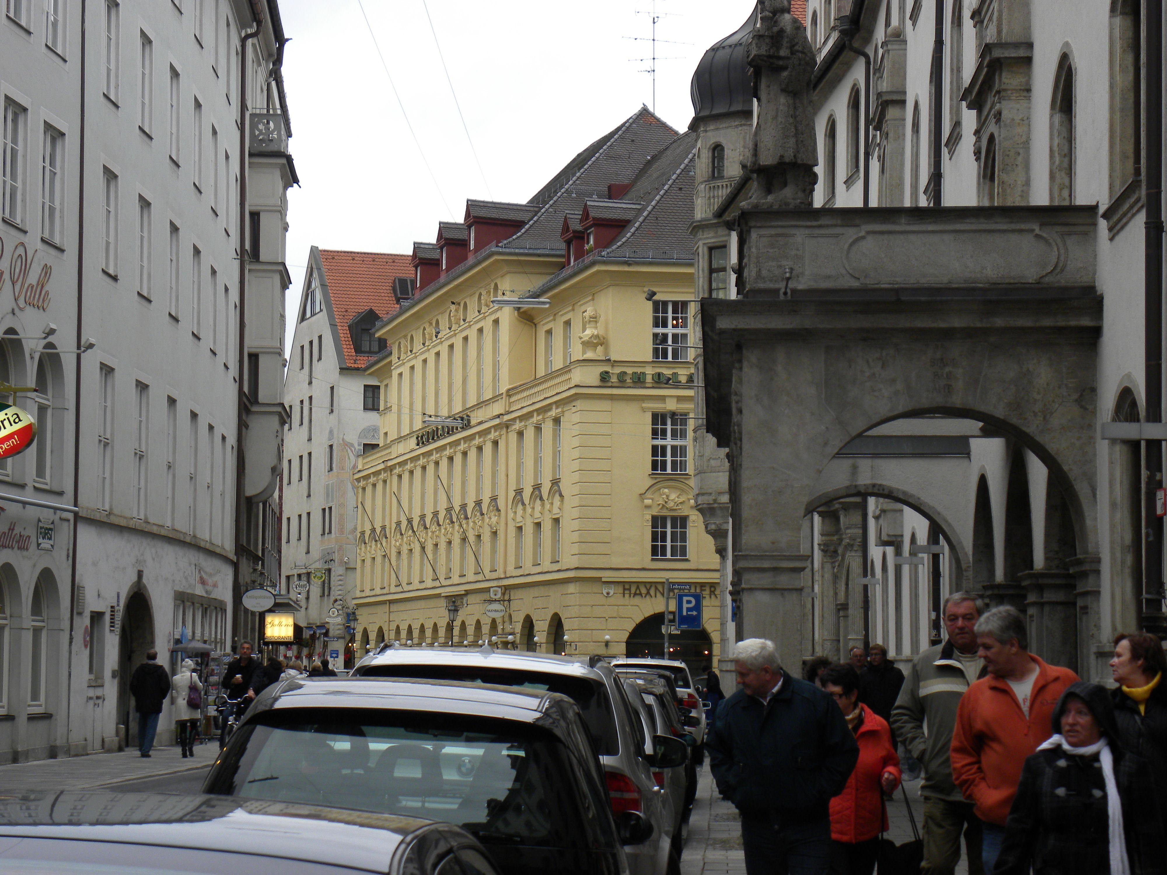 December day in Munich. Street view