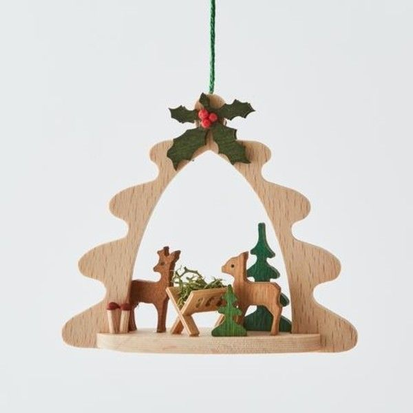 Wooden Framed Christmas Ornament ($14) ❤ liked on Polyvore featuring home, home decor, holiday decorations, christmas tree ornaments, christmas bell ornaments, wood christmas tree ornaments, christmas ornaments and wooden christmas tree ornaments