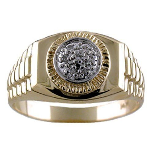 Best Diamond Ring Lucky Pinky Ring K Yellow or White Gold Rolex Style