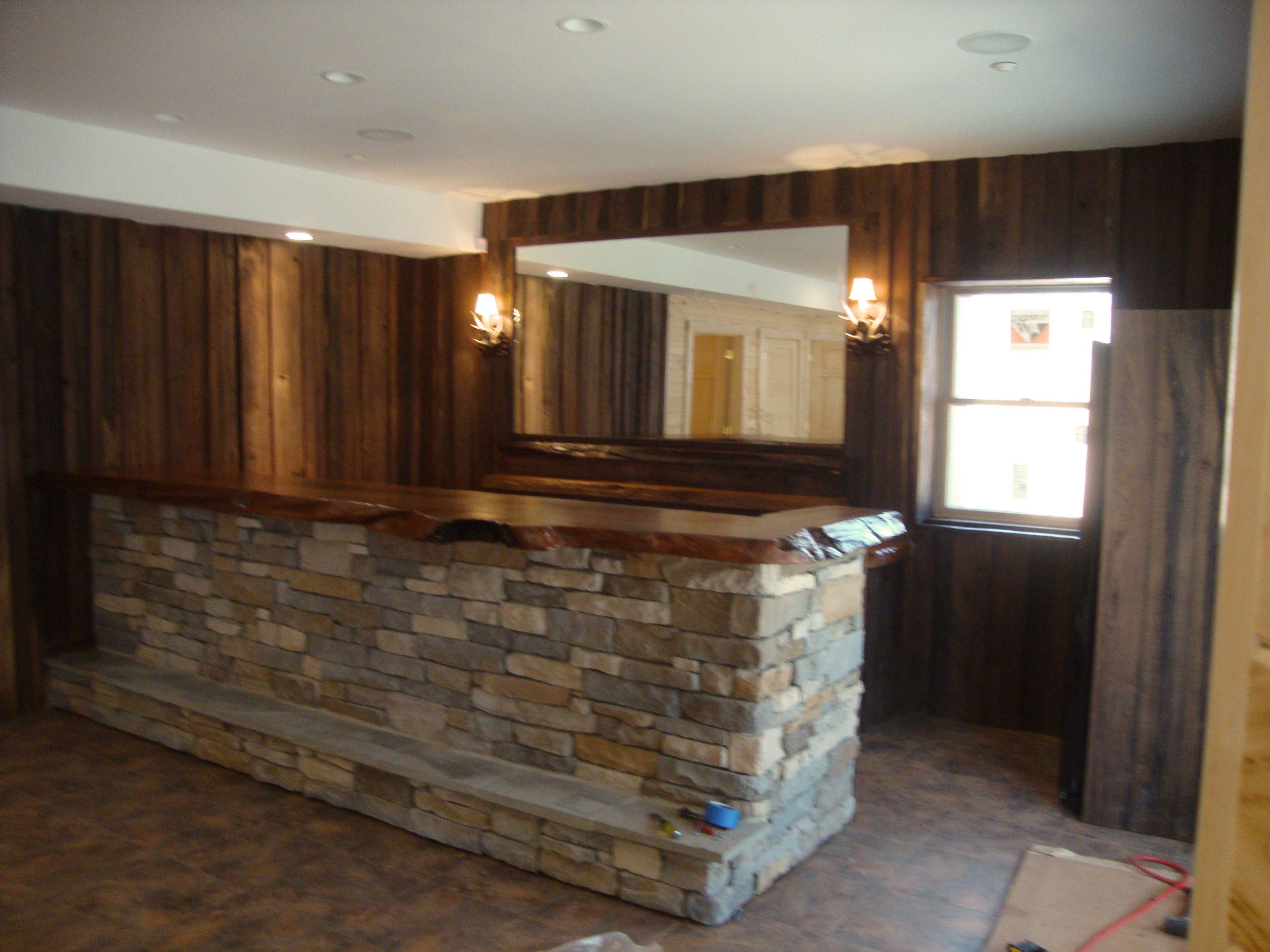 Custom Black Walnut Barn Wood And Redwood Burl Bar Oh The Possibilities