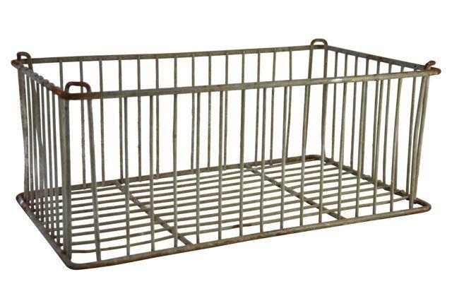 Industrial Metal Wire Storage Basket