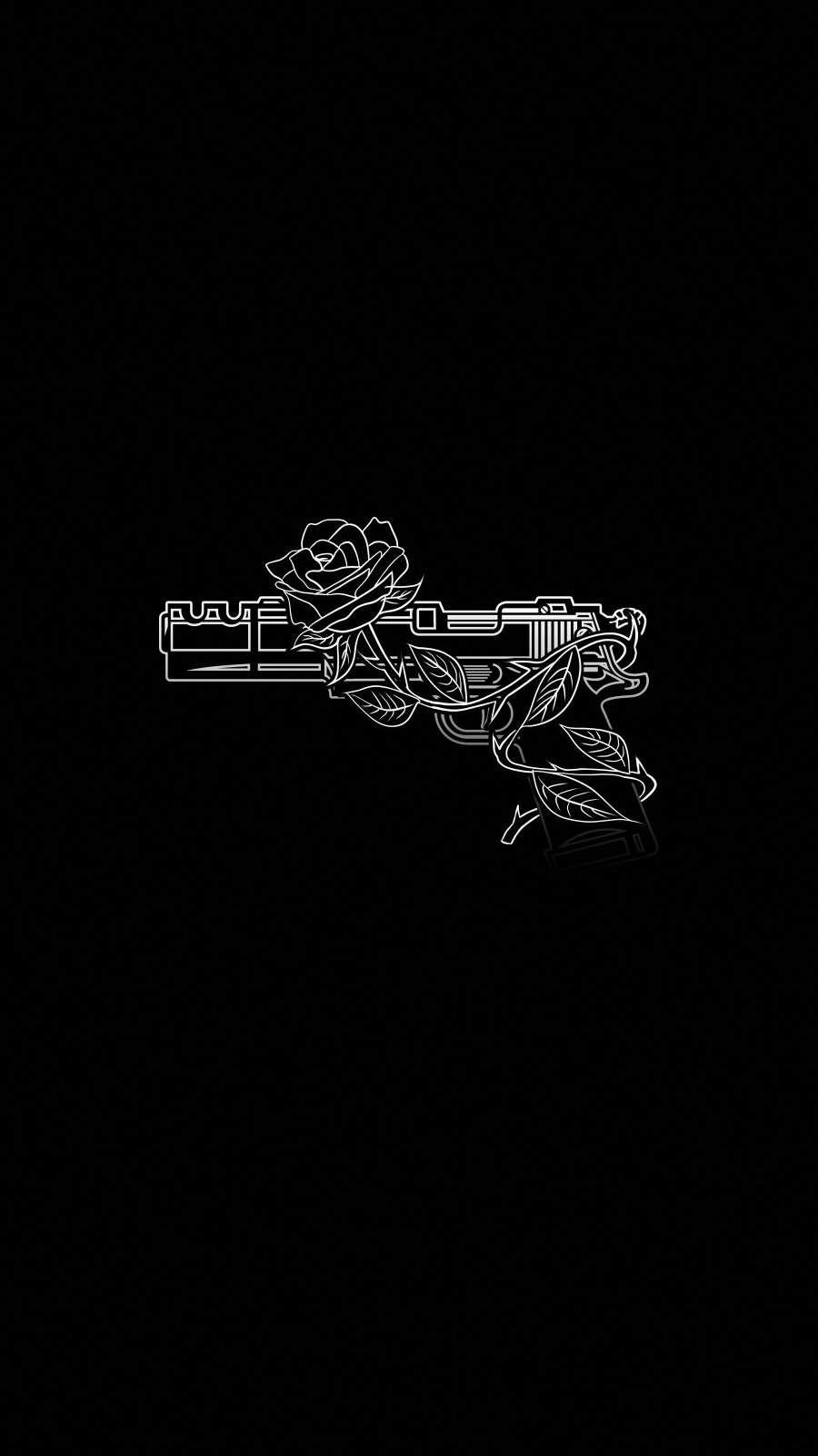 Gun And Rose IPhone Wallpaper - IPhone Wallpapers