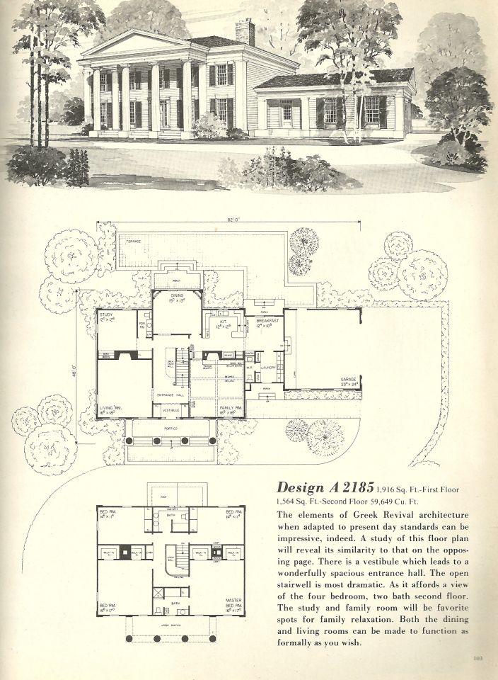Vintage House Plans 2185 Colonial House Plans Vintage House Plans Southern House Plans