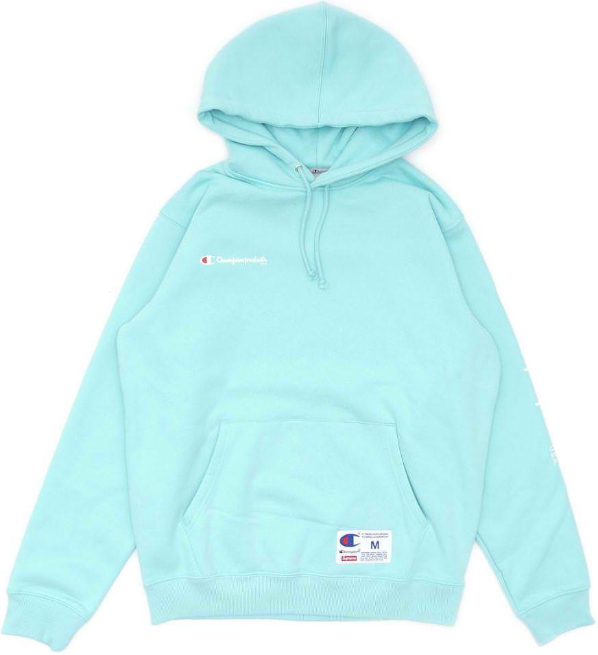Supreme Champion Hooded Sweatshirt Aqua Supreme Cloth Champion Hooded Sweatshirt Hooded Sweatshirts Sweatshirts [ 955 x 872 Pixel ]