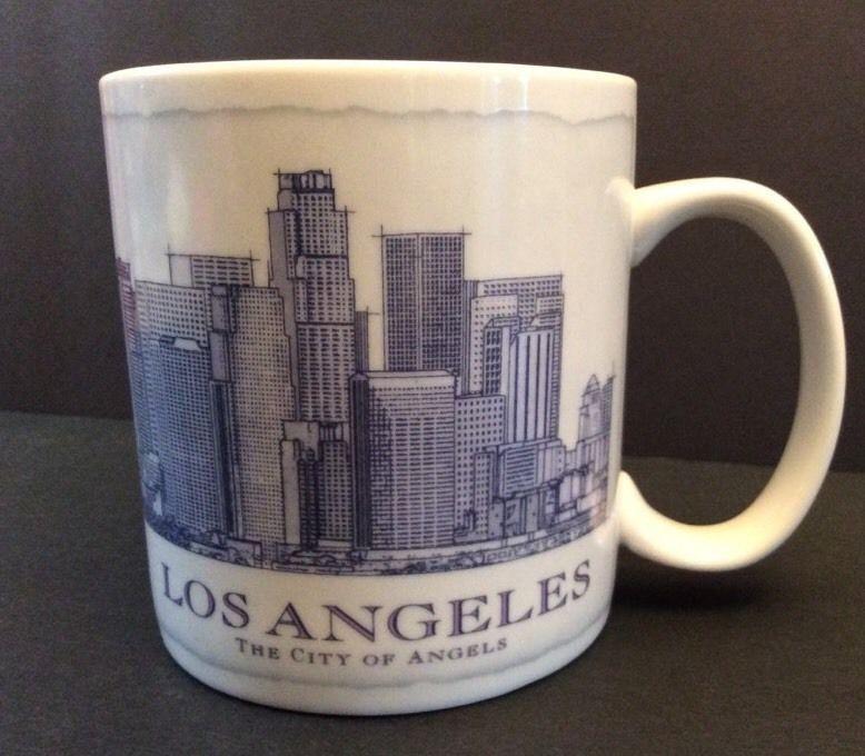 Starbucks los angeles architect series coffee mug 2008 18 ounce la blue original starbucks advertising ebay malvernweather Choice Image