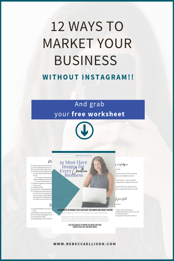 12 Ways To Market Your Business Without Instagram Instagram Marketing Tips Instagram Marketing Instagram Algorithm