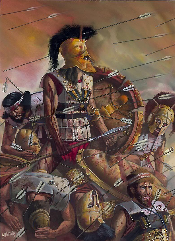 Last stand of King Leonidas, Thermopylae | Ancient War Art ...