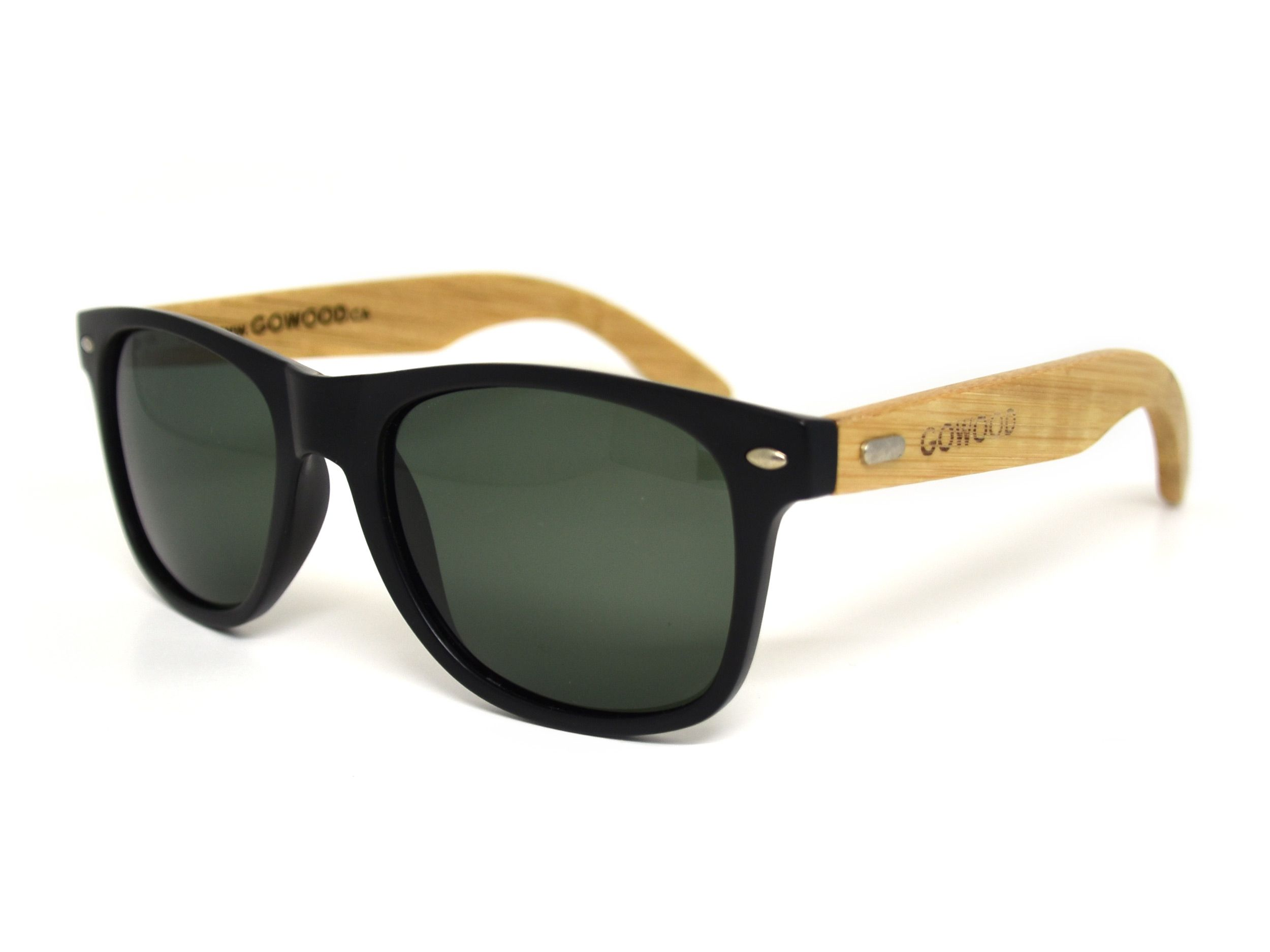 4173f8bf0d Classic wayfarer sunglasses with unique combination of matt black front and  wood legs.  wayfarer  wood  sunglasses  bamboo  fashion