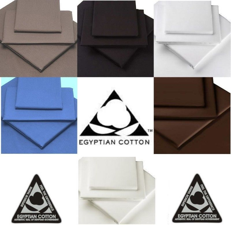 100% EGYPTIAN COTTON 16  40cm EXTRA DEEP Fitted Sheets