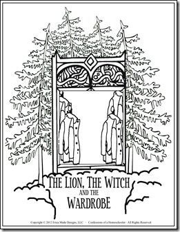 Classic Literature Unit Study Confessions Of A Homeschooler Lion Witch Wardrobe Literature Unit Studies Witch Coloring Pages