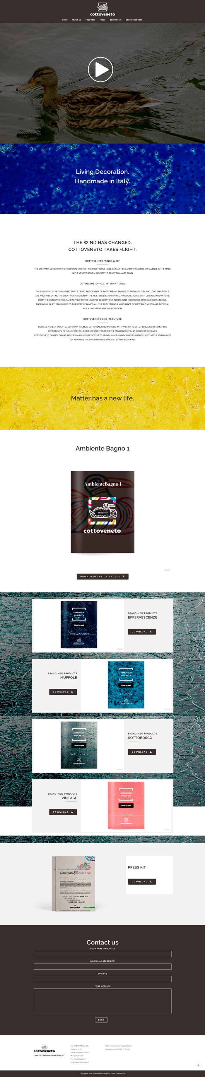Cottoveneto: Living Decoration. Handmade in Italy. | CARATTI E POLETTO ADV  #webdesign
