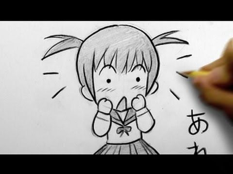 How To Draw Chibi Tutorial Surprised Face For Comic Manga Character Reference Easy Chibi Drawings Chibi Girl Drawings Chibi Drawings