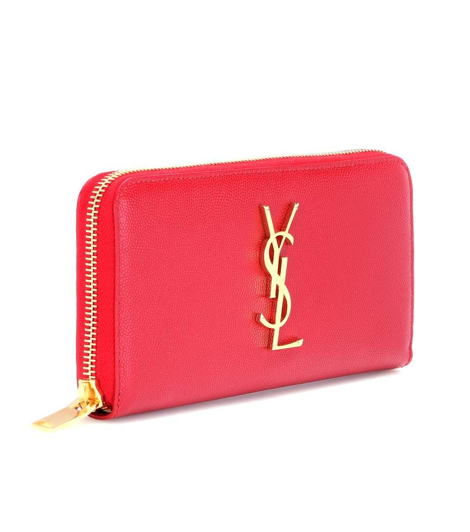 mytheresa.com - Monogram leather wallet - Luxury Fashion for Women / Designer clothing, shoes, bags