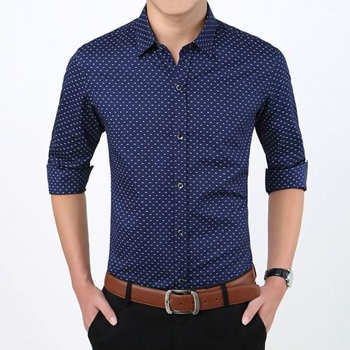 CSSY Autumn Men Clothes Slim FitMen Long Sleeve Shirt Men Plaid Cotton CasualMen ShirtSocial Plus Size M-5XL