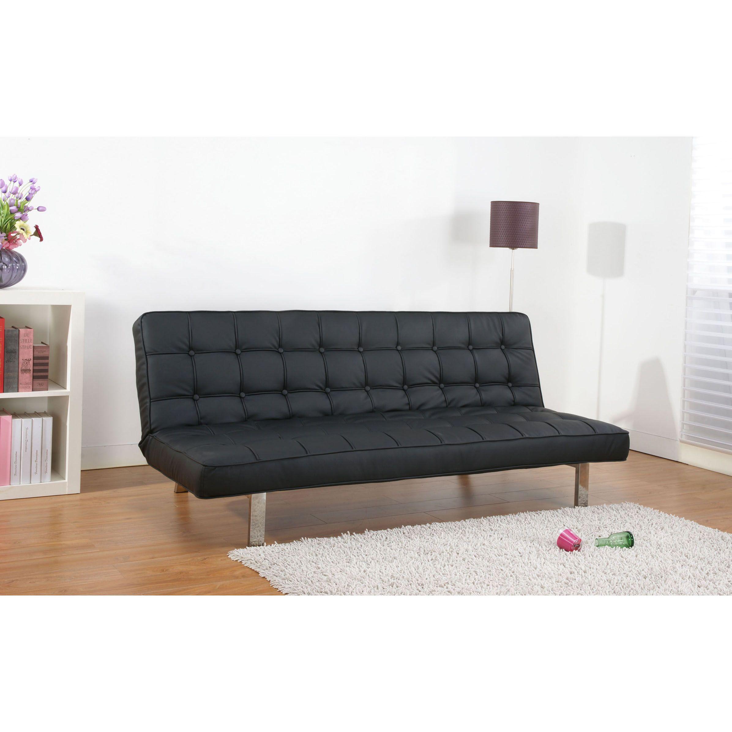 Gold Sparrow Vegas Black Futon Sofa Bed