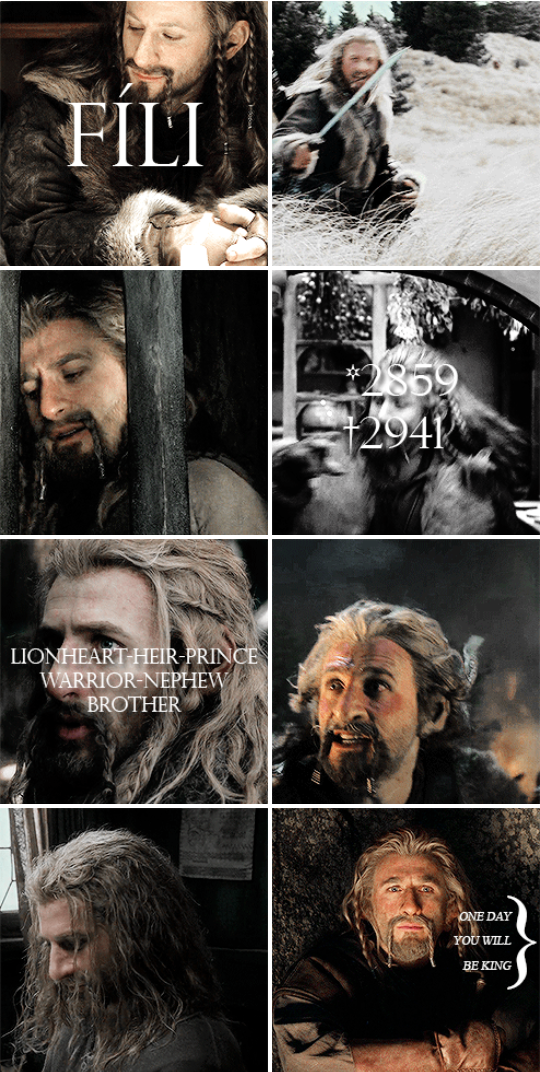 Fili heir to the throne... nephew of Thorin Oakenshield of the line of Durin.