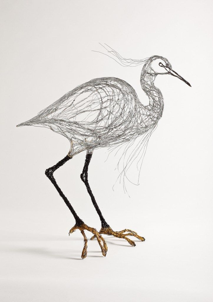 Bird Sculptures Made Out of Telephone Wire by Celia Smith | Wire ...