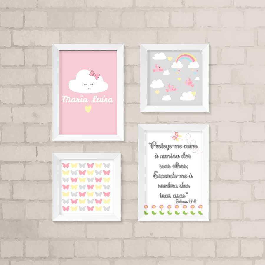 D Mais Vida Ao Quarto Da Sua Filhota Com O Nosso Kit De Quadros  ~ Como Fazer Quadros Decorativos Para Quarto De Bebe