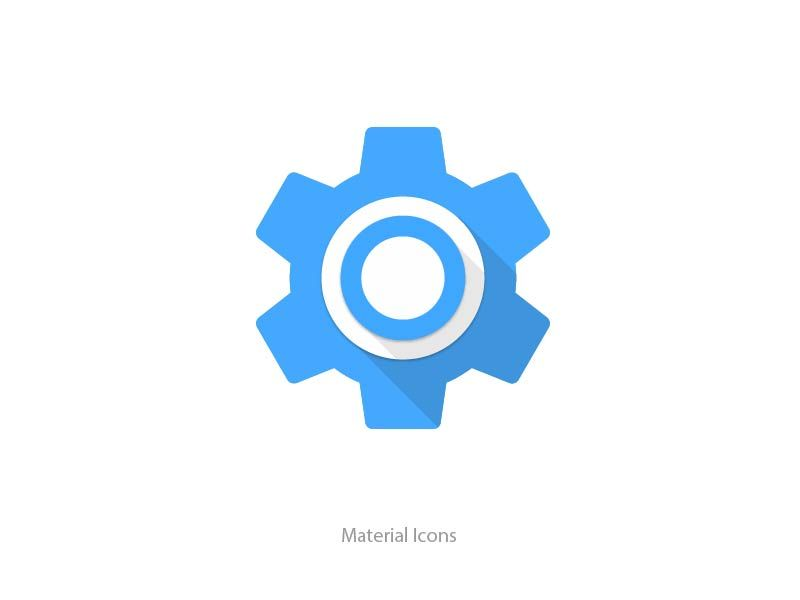 Material Gear Icon By Cici Wang Icon Material Material Design