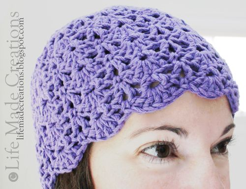 Life Made Creations: Crocheted Chemo Cap