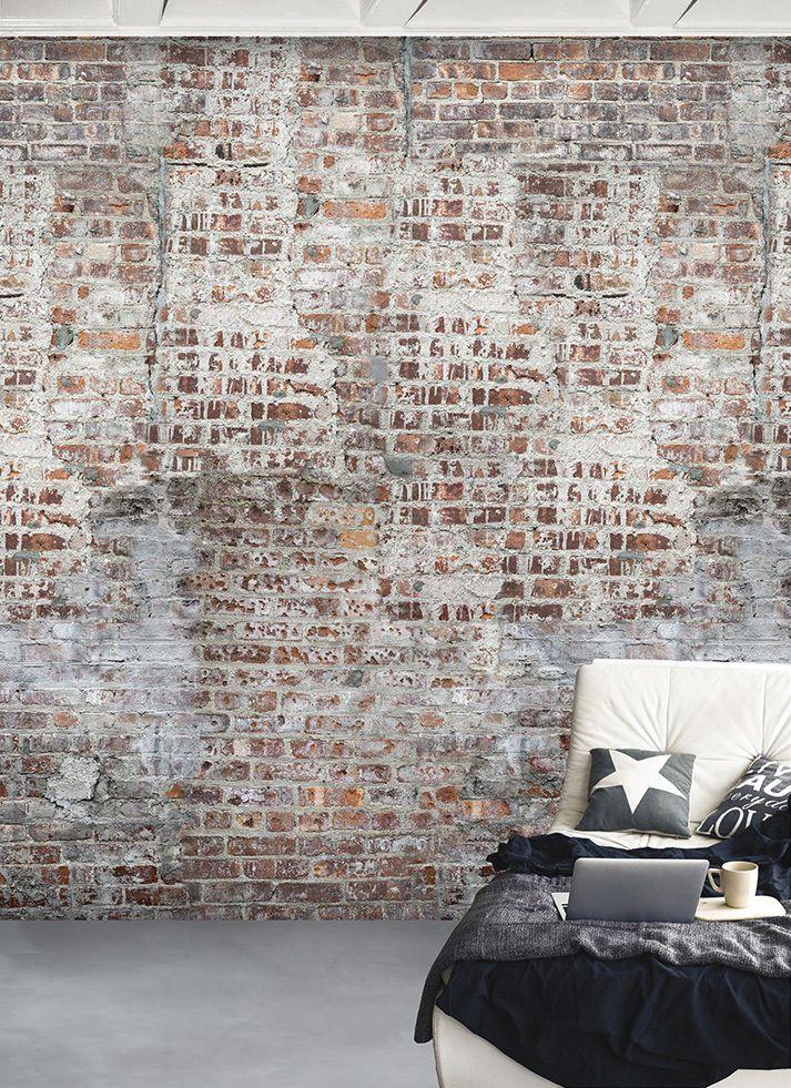 Details zu Vlies Foto Tapete Wandbild Steinwand Ziegelstein