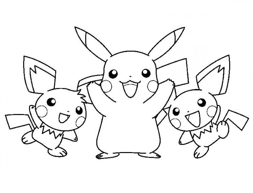 Free Printable Pikachu Coloring Pages For Kids Pikachu Coloring