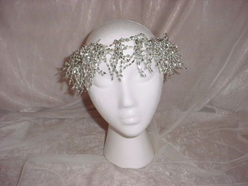 Silvery Elastic Angel Halo Headband size Child to Small Adult 12 to 18 inches