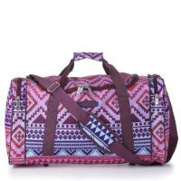 5 Cities/Frenzy Ultra Lightweight Cabin Size Carry on holdall -RyanAir Approved Flight/Weekend/Overnight Bag (55x40x20mm) Large 32L Capacity, Ripstop Material, Optional Shoulder Strap. (Aztec Multicolour)