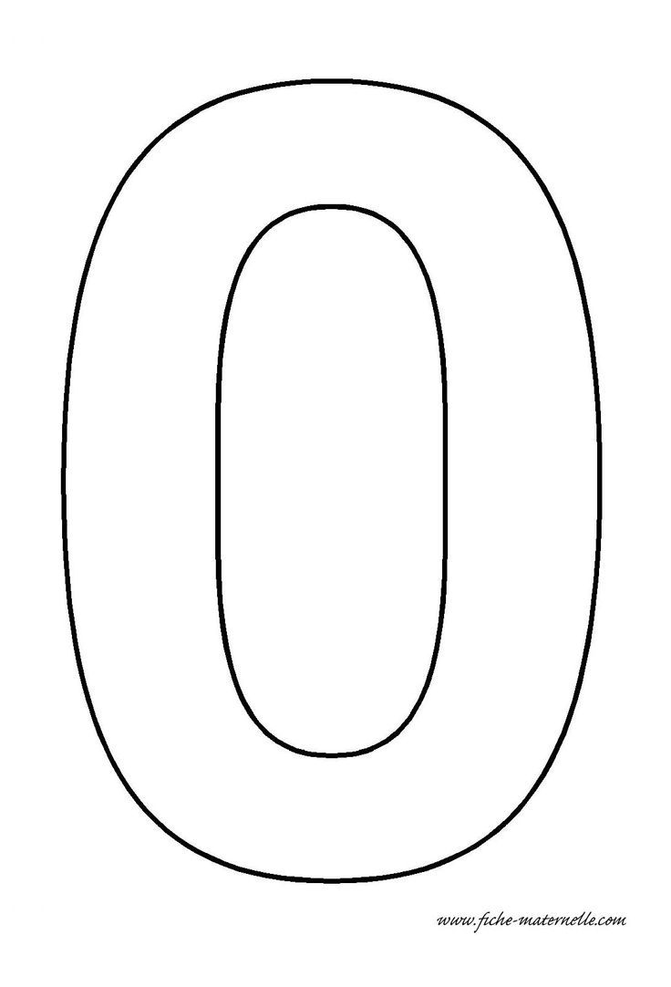 Number 0 template crafts and worksheets for preschool for Number 9 cake template