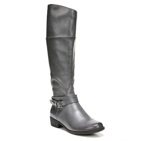 NEW Natural Soul by Naturalizer Women/'s VARIANT Riding Boot BLACK w// Wide Calf