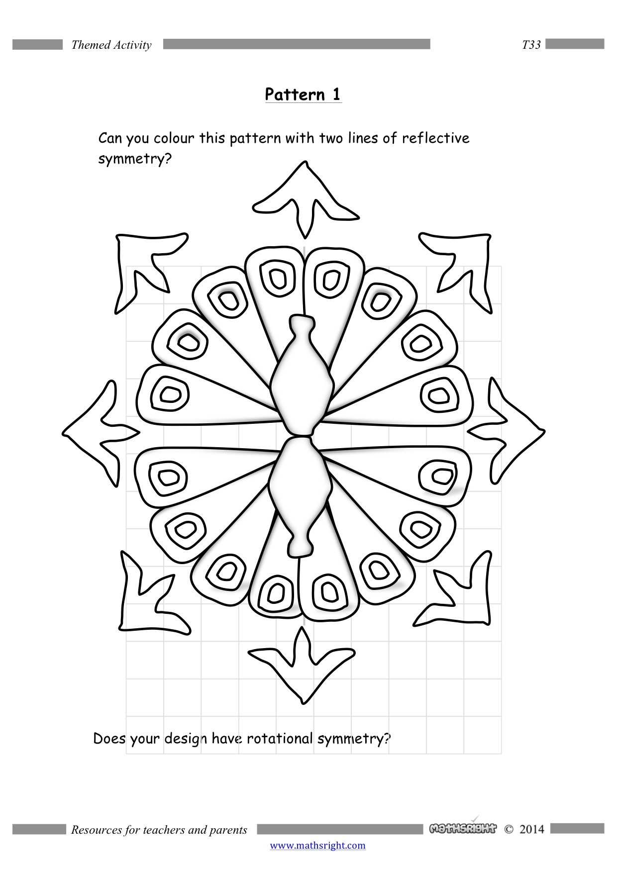 A Beautiful Rangoli Pattern Illustrating Symmetry Both