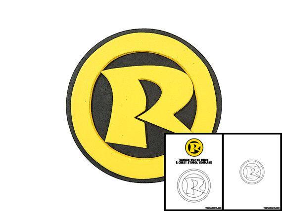 Template For Damian Wayne Robin R Chest Symbol Pinterest Damian