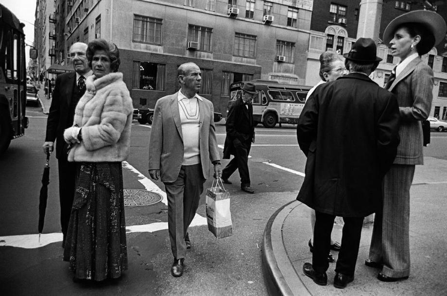 Street Corner, East Side, Man With Shopping Bag, 1973. NYC Paul McDonough
