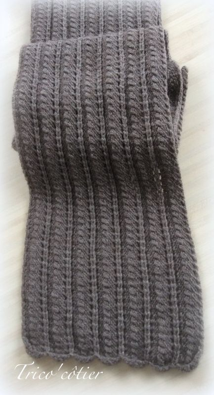 Brrrr ! Echarpe et tuto pour contrer le froid !   Knitting mood ... 51aea4cc885