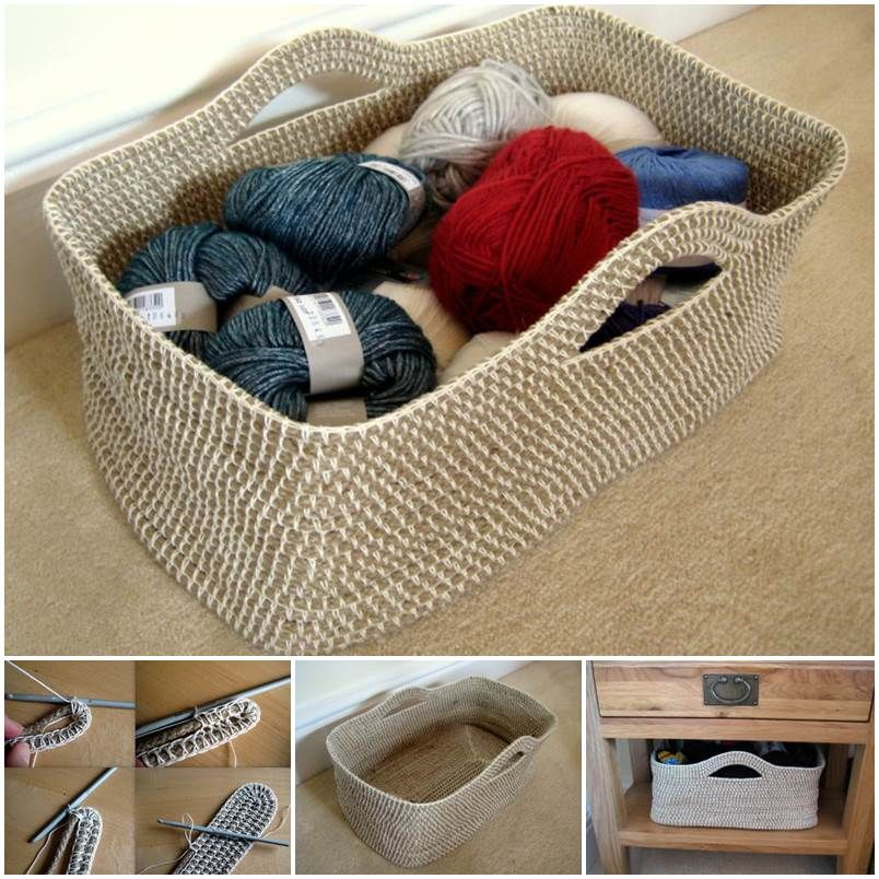 Diy Rope Craft Projects To Do At Home: Creative Ideas - DIY Crochet Rope Basket