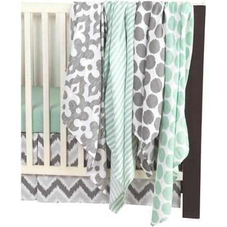 Walmart Swaddle Blankets Fascinating Bacati Ikat Swaddling Muslin Blankets Available In Multiple