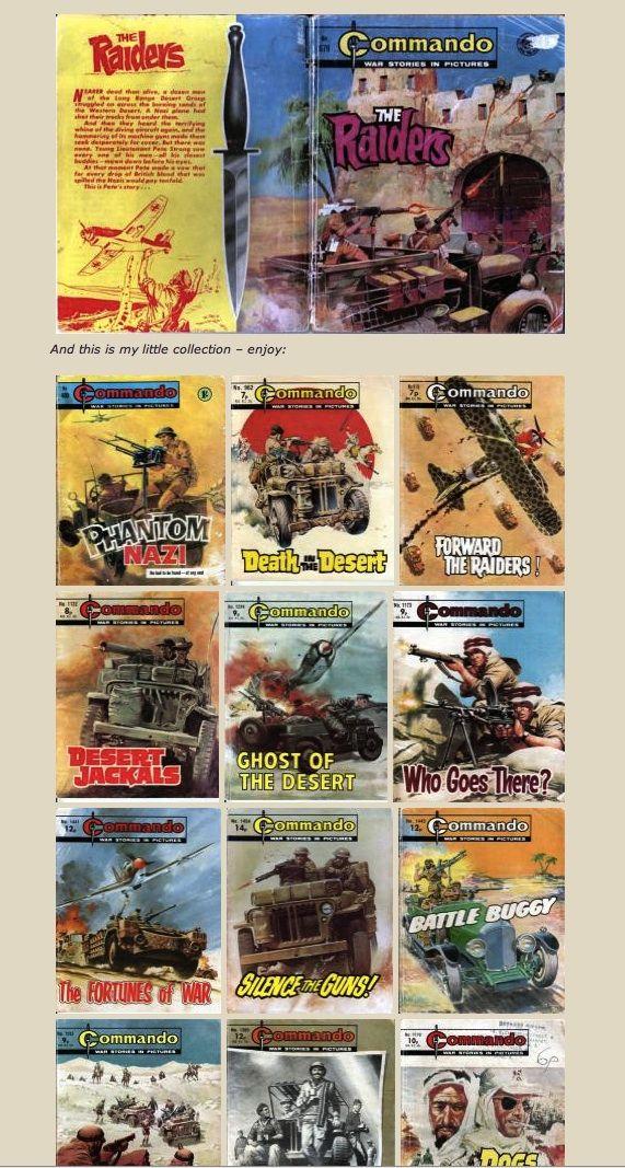 LRDG in Commando comic
