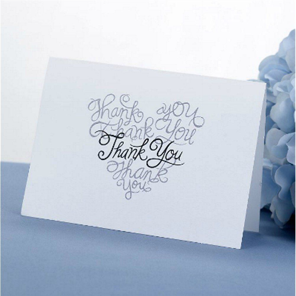 Many Thanks Heart Designed Thank You Cards With Envelopes