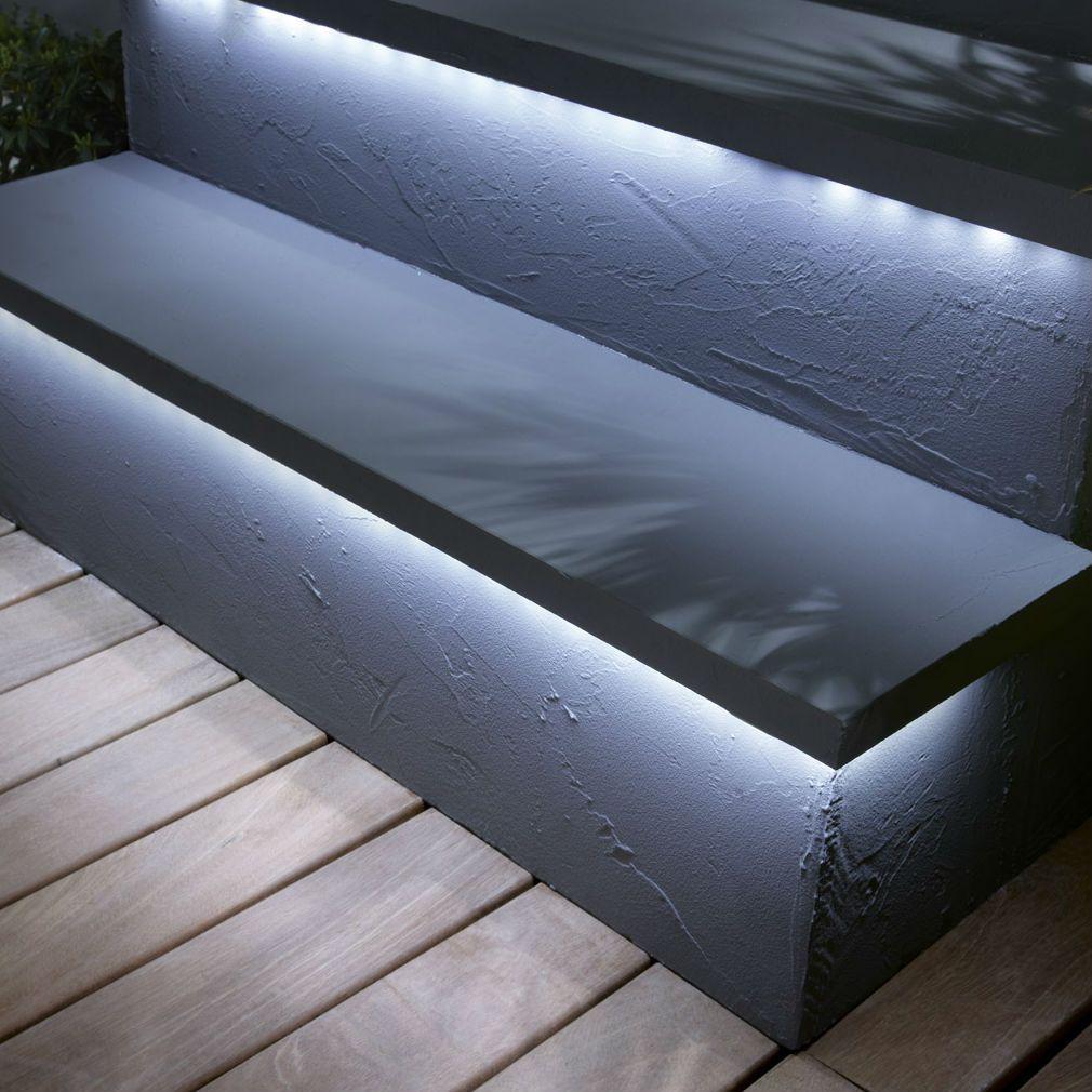 strip led kit ruban led ext rieur blanc froid l1m lumihome jardin pinterest interior. Black Bedroom Furniture Sets. Home Design Ideas